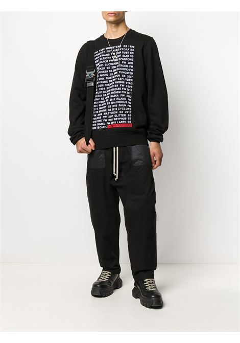 Text-print cotton sweatshirt RICK OWENS DRKSHDW | DU20F1270FEP109110
