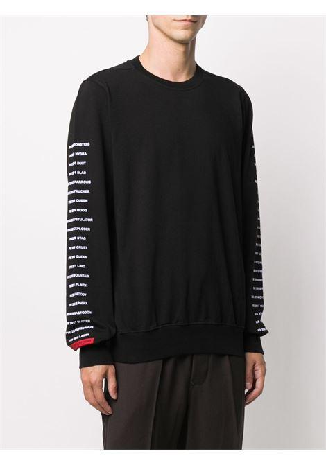 Text-print crew neck sweatshirt RICK OWENS DRKSHDW | DU20F1270RIGEP409110