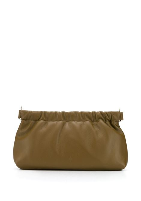 Gathered clasp leather clutch THE ATTICO | Clutch bags | 202WAH04L001081