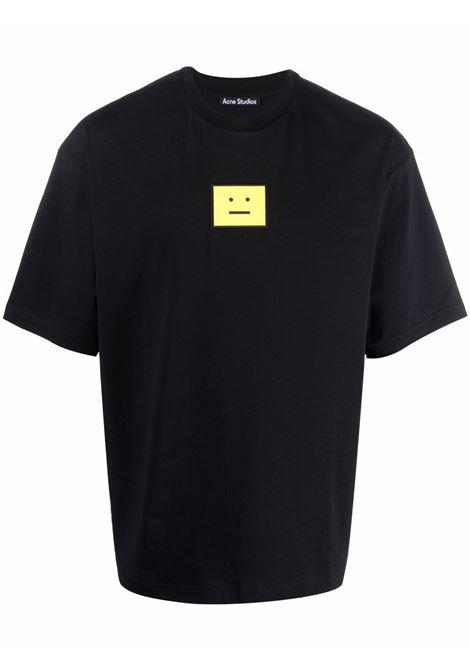 T-shirt face con applicazione in nero - unisex ACNE STUDIOS FACE | CL0101900