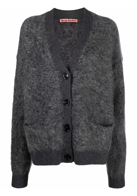 Cardigan con tasche in grigio - donna ACNE STUDIOS | A60183AA3