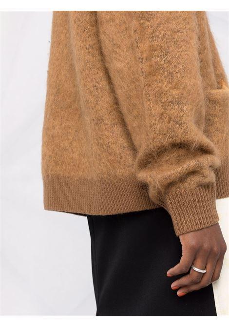 Cardigan con bottoni in marrone - donna ACNE STUDIOS | A60183ALL