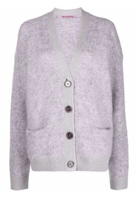 Cardigan con tasche in lilla - donna ACNE STUDIOS | A60183AS3