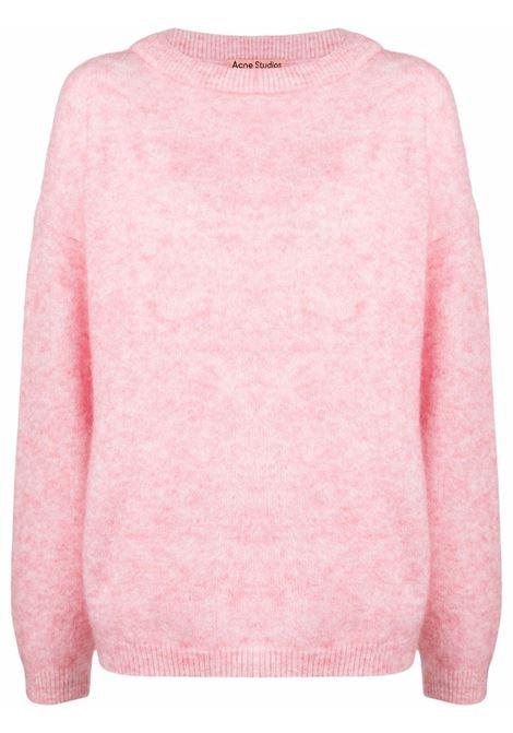 Maglione girocollo oversize in rosa - donna ACNE STUDIOS | A60195ACU