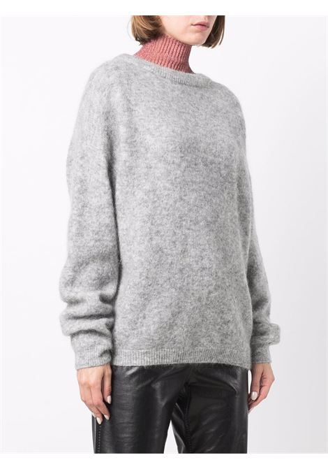 Maglione a girocollo oversize in grigio - donna ACNE STUDIOS | A60195BIS