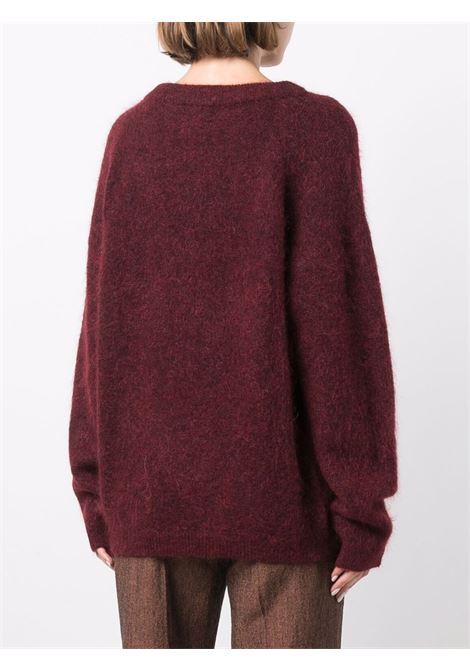 Maglione a girocollo oversize in rosso - donna ACNE STUDIOS | A60195CL3