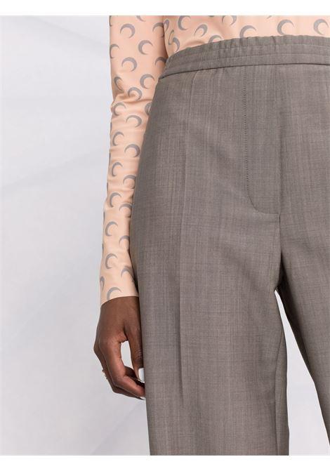 Pantaloni a vita alta con gamba dritta in grigio - donna ACNE STUDIOS | AK0318990