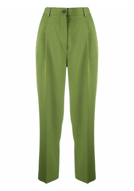 Pantaloni con gamba dritta in verde - donna ACNE STUDIOS | AK0414BCA