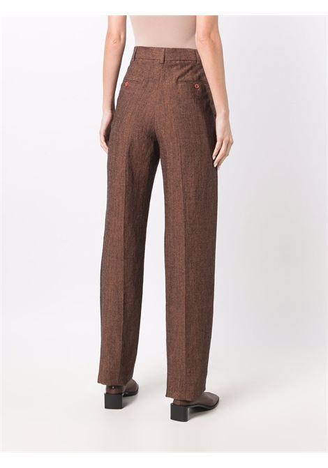 Pantaloni a gamba dritta in arancione - donna ACNE STUDIOS | AK0422AC8