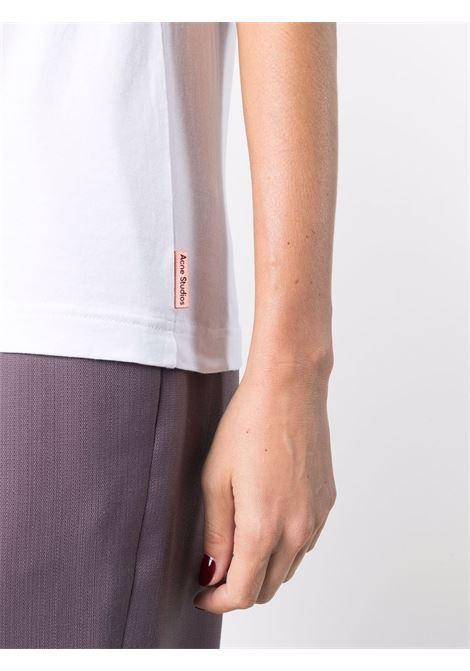 T-shirt a girocollo in bianco - donna ACNE STUDIOS | AL0231183
