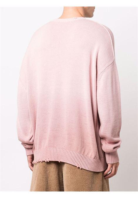 Blossom pink ombre fine knit jumper - men  ACNE STUDIOS | B60193AQ8