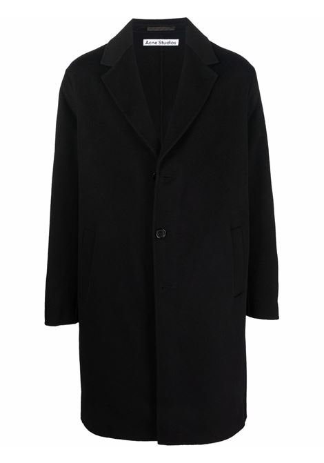 Single-breasted coat in black - men  ACNE STUDIOS | B90548900