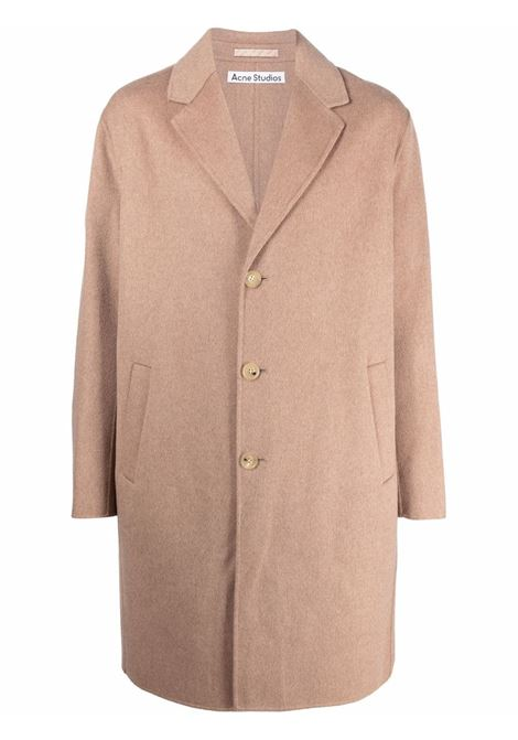 Single-breasted coat in camel brown - men  ACNE STUDIOS | B90548AF5