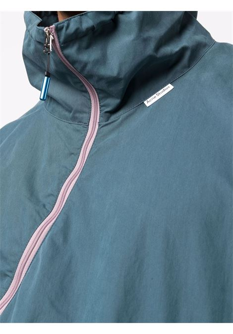 Zip-fastening lightweight jacket in blue - men  ACNE STUDIOS | B90573AUZ