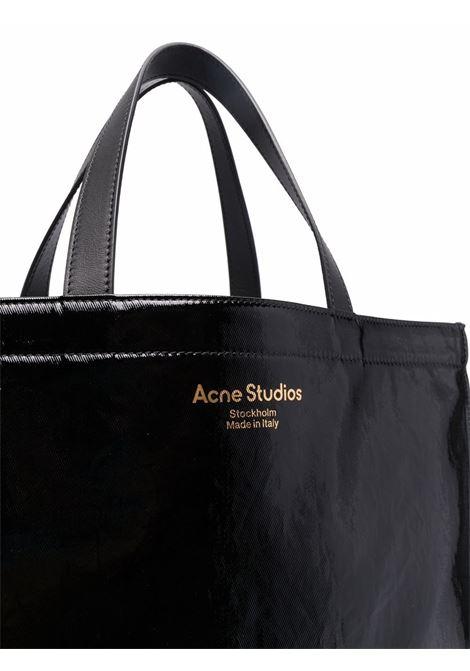 Borsa a mano con effetto lucido in nero - donna ACNE STUDIOS | C10102900
