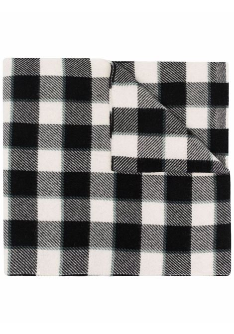 Grey black and white checked wool scarf - men  ACNE STUDIOS | CA0155BAN