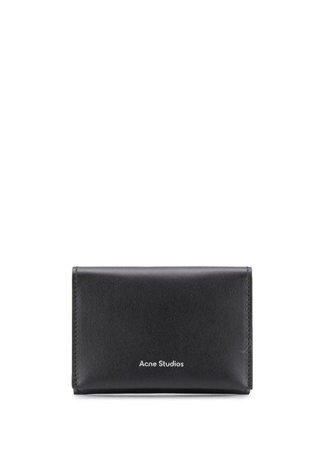 Portacarte con logo in nero - donna ACNE STUDIOS | CG0099900