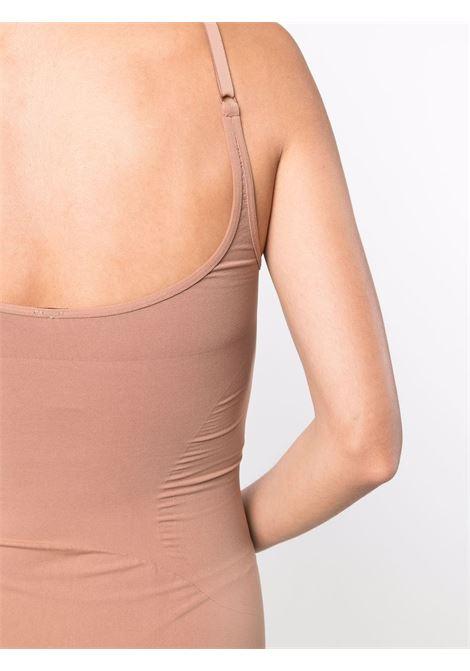 Sleveless fitted short dress in beige - women   ADAMO | ADFW21DR080304760476002