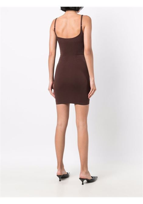 Sleveless fitted short dress in brown- women   ADAMO | ADFW21DR080304770477003
