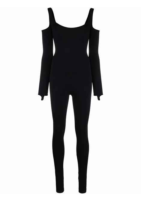 Tuta elasticizzata con spalle scoperte in nero- donna ADAMO   ADFW21JU020304730473004