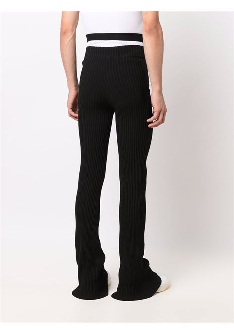 High-waisted flared trousers in black - women   ADAMO | ADFW21PA040314730473004