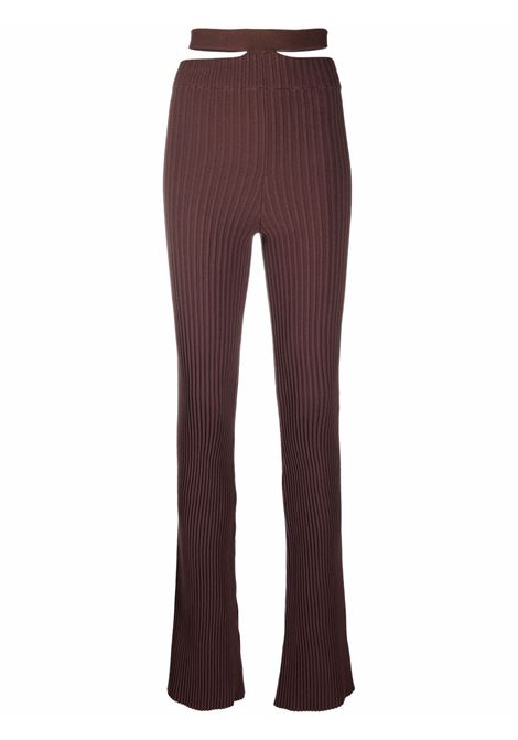 High-waisted flared trousers in brown - women   ADAMO | ADFW21PA040314770477003