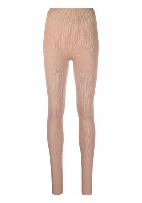 Leggings a vita alta in beige - donna ADAMO   ADFW21PA060324760476002