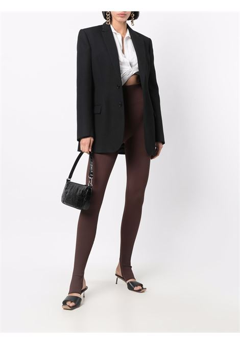 Ribbed-Jersey high-waisted stirrup leggings in sepia brown - women  ADAMO | ADFW21PA060324770477003