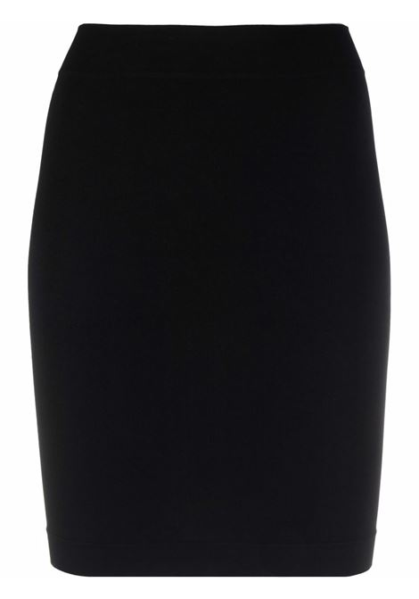 High-waisted pencil miniskirt in black - women  ADAMO | ADFW21SK070304730473004