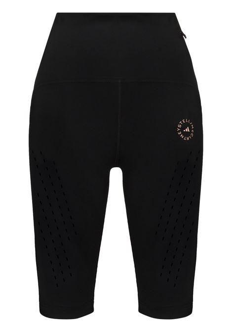 Black logo-print cycling shorts - women  ADIDAS BY STELLA MC CARTNEY | FU0299BLK