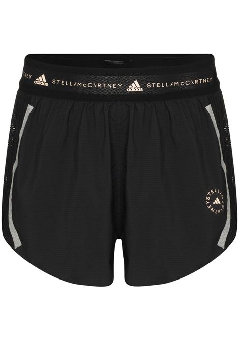 Black logo waistband running shorts - women   ADIDAS BY STELLA MC CARTNEY | FU0747BLK