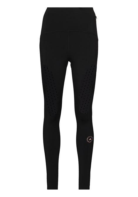 Black logo-print workout leggings - women  ADIDAS BY STELLA MC CARTNEY | FU0752BLK