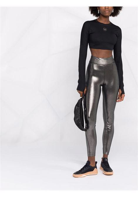 Silver shiny training leggings - women  ADIDAS BY STELLA MC CARTNEY | GU1581SLVRBLK