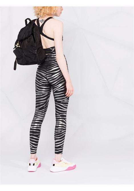 Black and silver zebra-print training leggings - women  ADIDAS BY STELLA MC CARTNEY | GU1616BLKSLVR