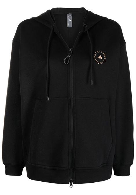 Black logo-print sweatshirt - women  ADIDAS BY STELLA MC CARTNEY | GU4336BLK