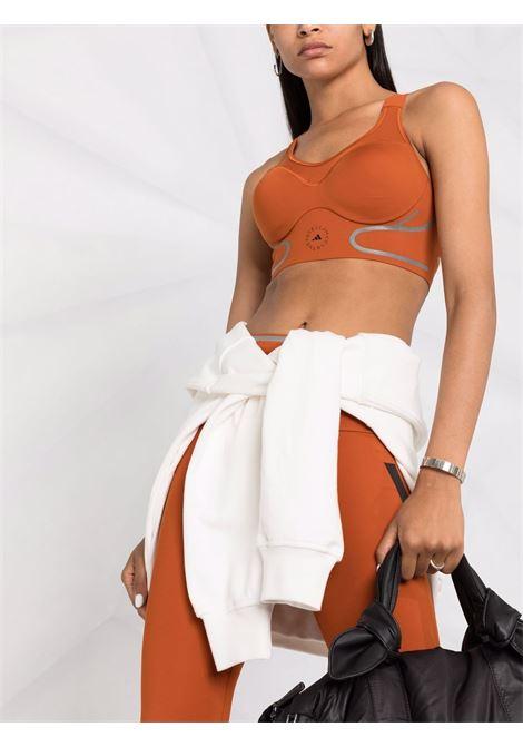Brown logo print sports bra - women  ADIDAS BY STELLA MC CARTNEY | GU9483BRWN