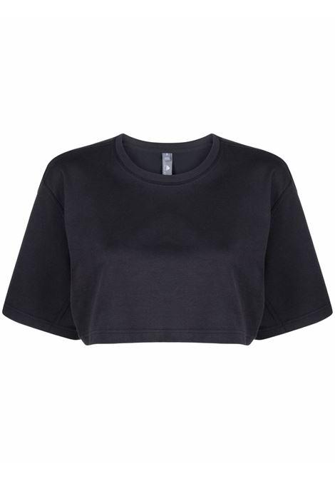 T-shirt crop con stampa in nero - donna ADIDAS BY STELLA MC CARTNEY | GV5097BLK
