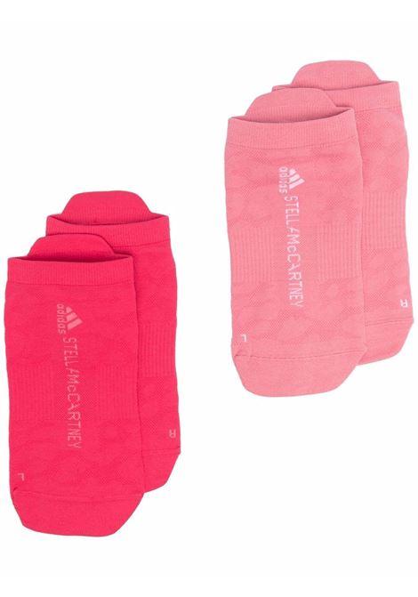 Logo-knit socks in pink - women ADIDAS BY STELLA MC CARTNEY | H45409ACTPNKHZRSWHT