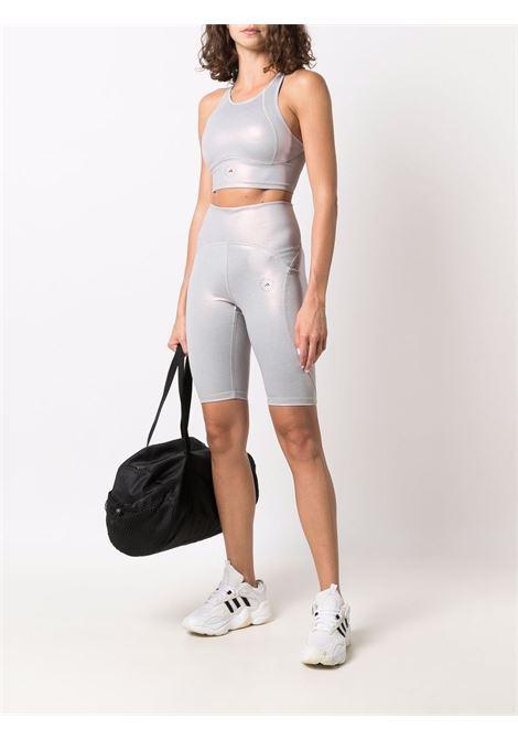 Silver shiny cycling shorts - women  ADIDAS BY STELLA MC CARTNEY | H56633HZRSCLNX
