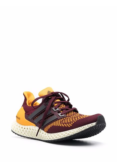 Bordeaux and yellow  Ultra 4D sneakers - men  ADIDAS | FY3960MRN