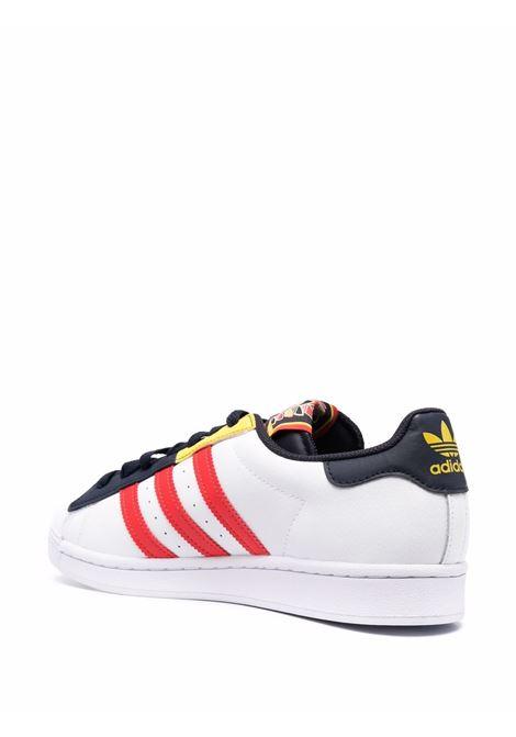 Sneakers Superstar in bianco, nero e rosso- uomo ADIDAS   H05250FTWRWHT