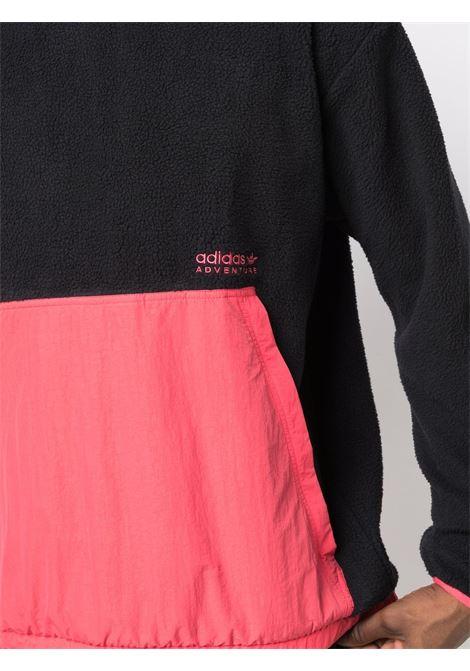 Felpa con design color-block in nero - uomo ADIDAS   H09089BLK