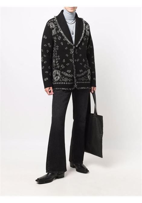 Cardigan con stampa bandana nero- uomo ALANUI | LMHB025F21KNI0021085