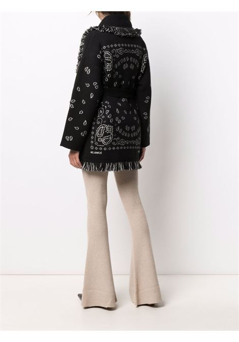 Cardigan con stampa bandana nero- donna ALANUI | LWHB053F21KNI0021085