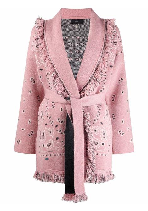 Cardigan con stampa bandana rosa- donna ALANUI | LWHB053F21KNI0023085