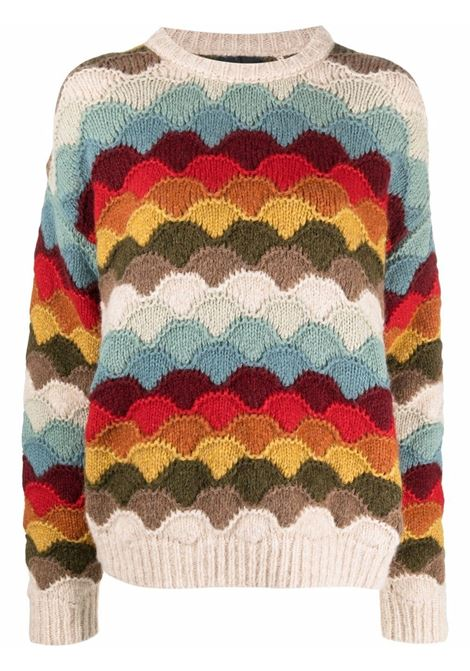 Multicolored colour-block knitted jumper - women  ALANUI | LWHE029F21KNI0018585