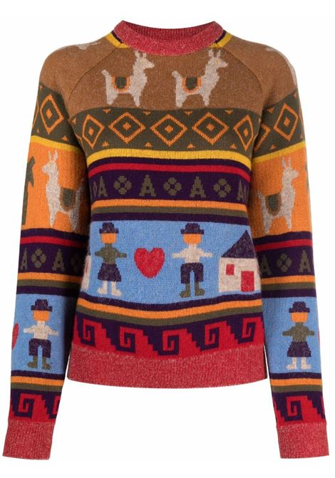 Maglione con intarsio multicolore - donna ALANUI | LWHE037F21KNI0016285