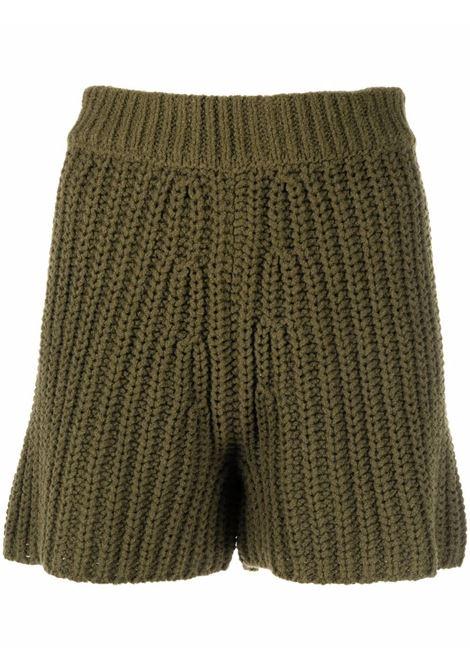 High waisted shorts green- women ALANUI | LWHM014F21KNI0015656