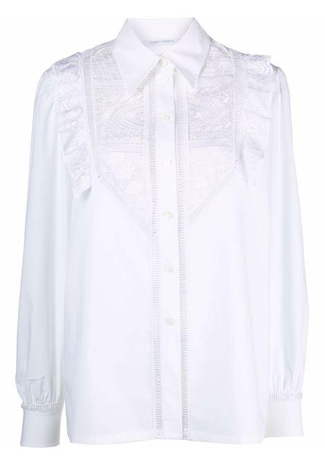 Camicia con design a pannelli in bianco - donna ALBERTA FERRETTI | A022466291