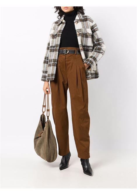 Pantaloni a vita alta in marrone - donna ALBERTA FERRETTI | A03055124146